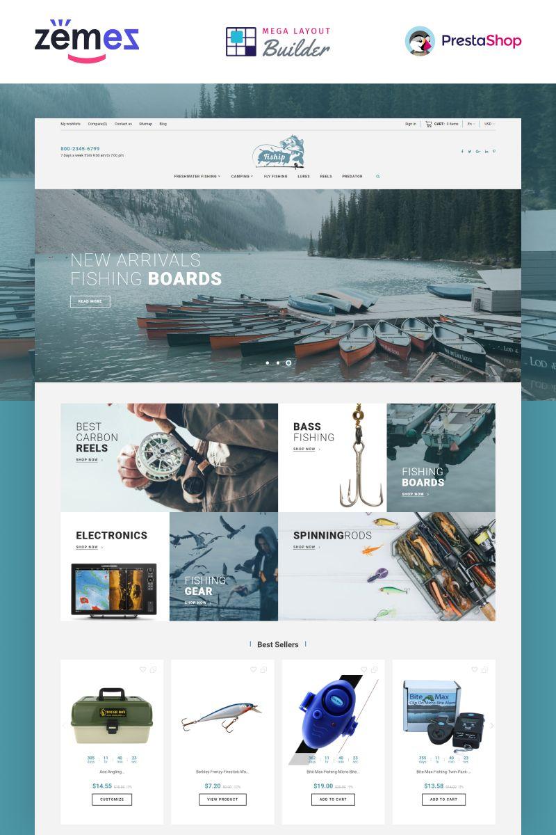 Fishing Store Template themes, Fishing store
