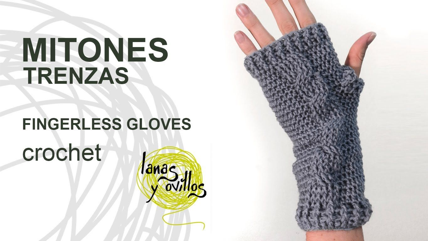 Tutorial Mitones Crochet Fingerless Gloves (English subtitles ...