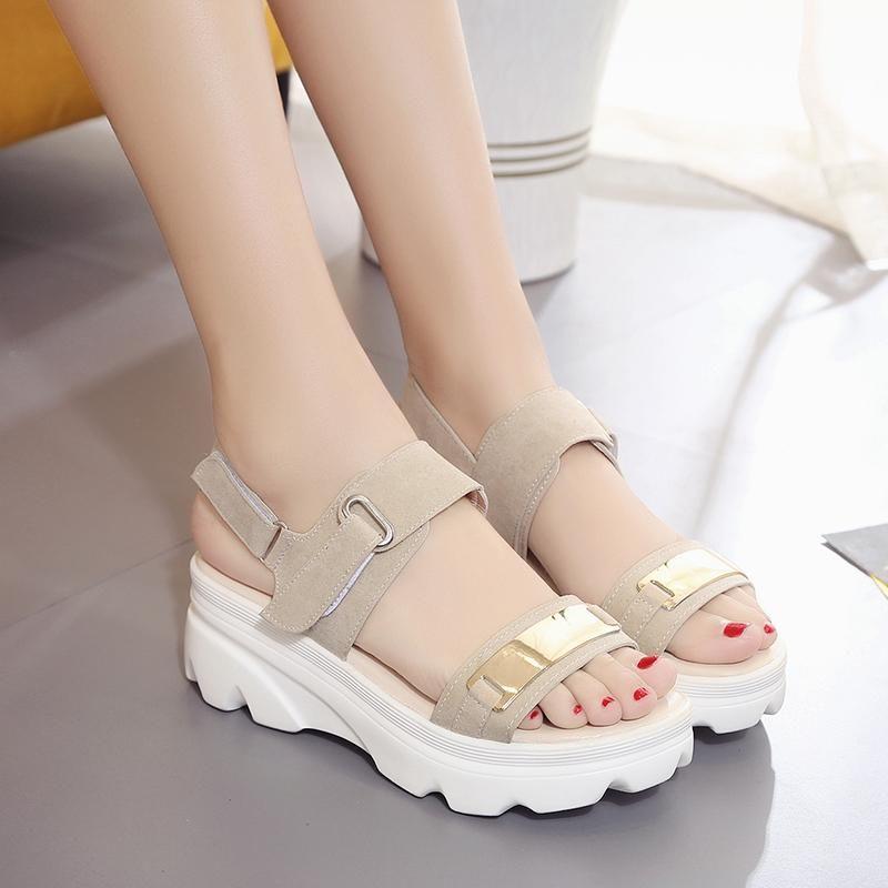 42988eea6ff Metallic Wedge Platform Sandals - Shop Minu (shoes) Korean Aesthetic Asian  Women s Fashion