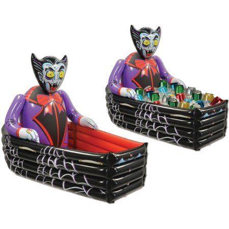 Halloween Inflatable Dracula Coffin Cooler Party