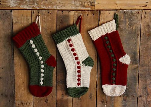 Snowbobbles Christmas Stocking by Sonya Blackstone #crochet