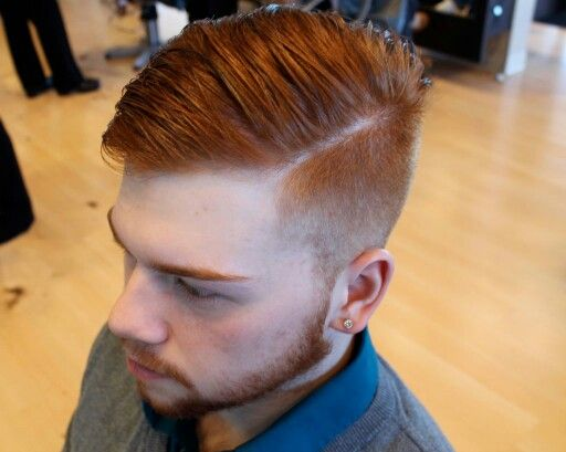 Ginger Fade Cosmetology Men In 2019 Boy Hairstyles