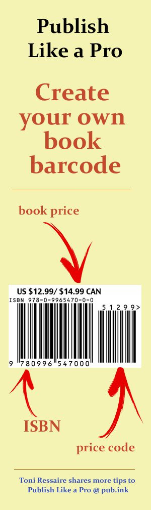 How To Get A Free Book Barcode Pub Ink Create Your Own Book Free Books Books