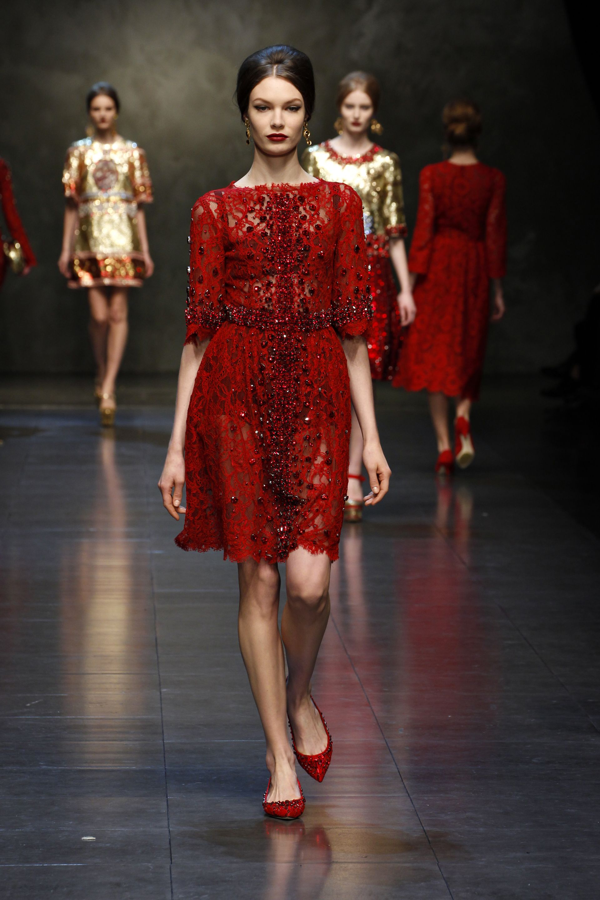 3.2014 Elie Saab Runway Beaded Evening Dresses. Two toned texture ...