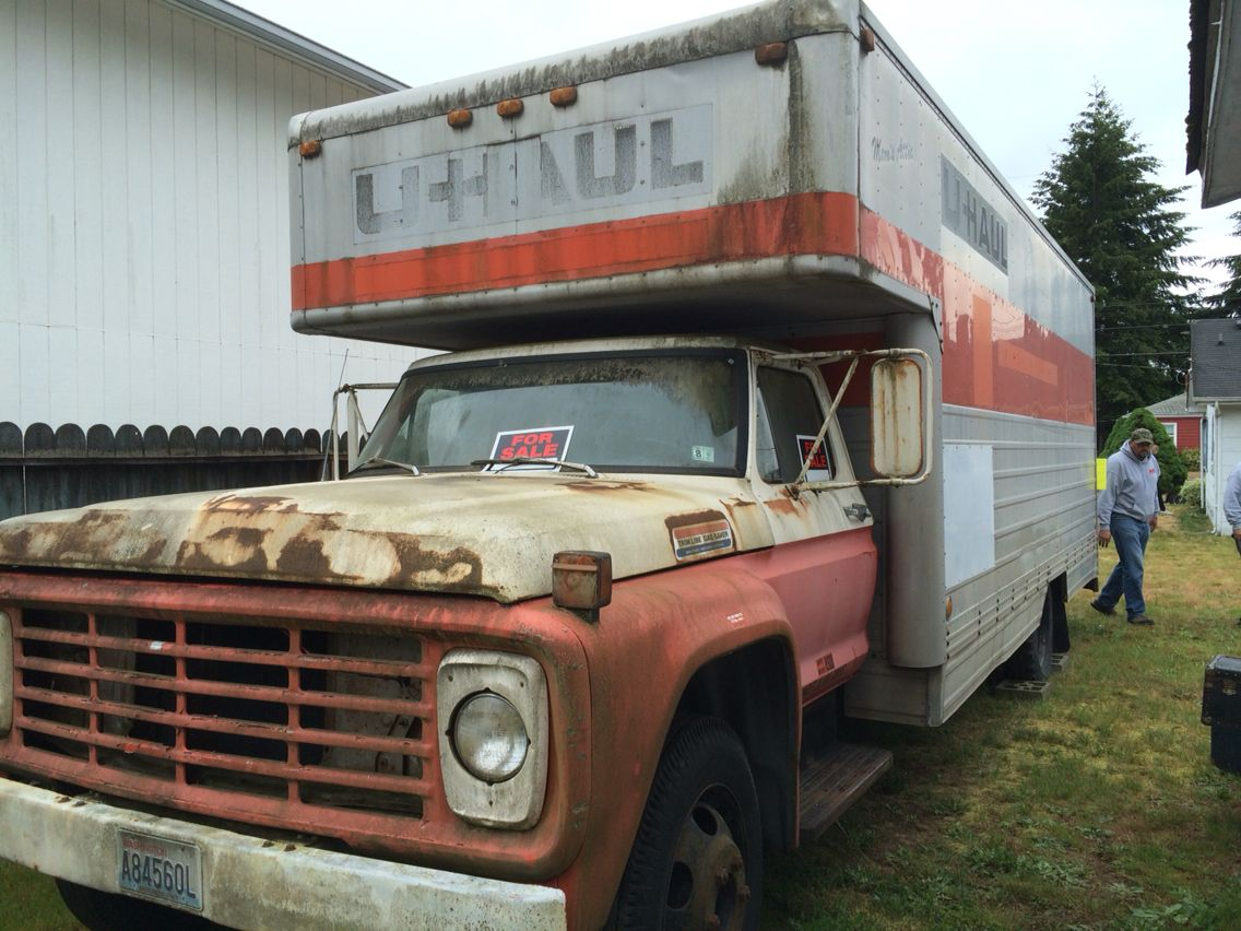 1973 Ford U Haul With A 20 Foot Box It S A Runner Cars Trucks