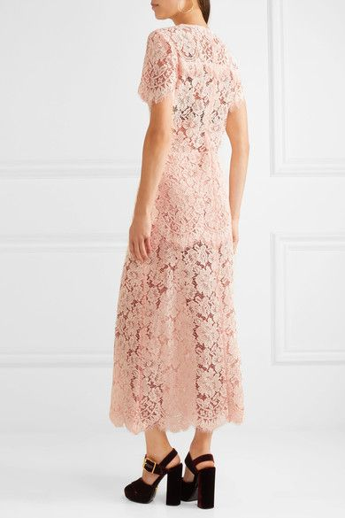 9a24b86c GANNI - Duval Corded Lace Maxi Dress - Pastel pink | Products | Lace ...