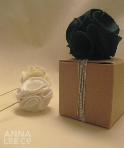 DIY felt pom poms wedding details 2