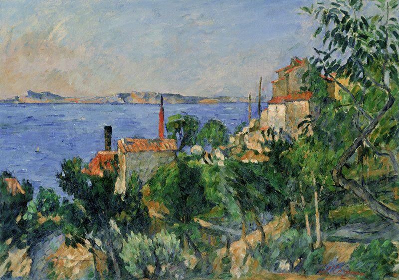 Paul Cézanne - The sea at L'Estaque   Paul cezanne ...