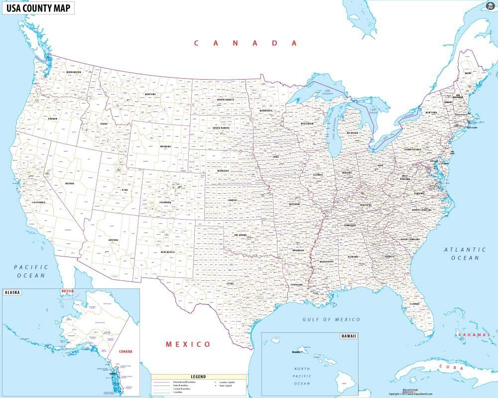 usa map with county names vinyl print 60 w x 479 h