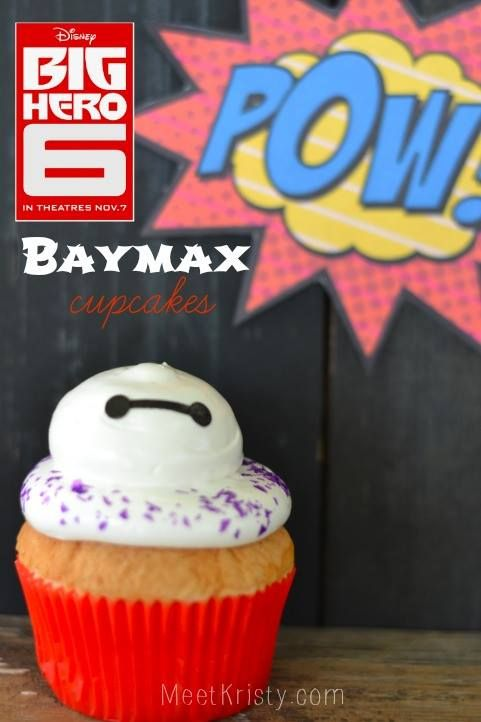 Celebrate the opening of Disney's Big Hero 6 with these adorable Baymax cupcakes! #MeetBaymax #BigHero6 #BigHero6Event