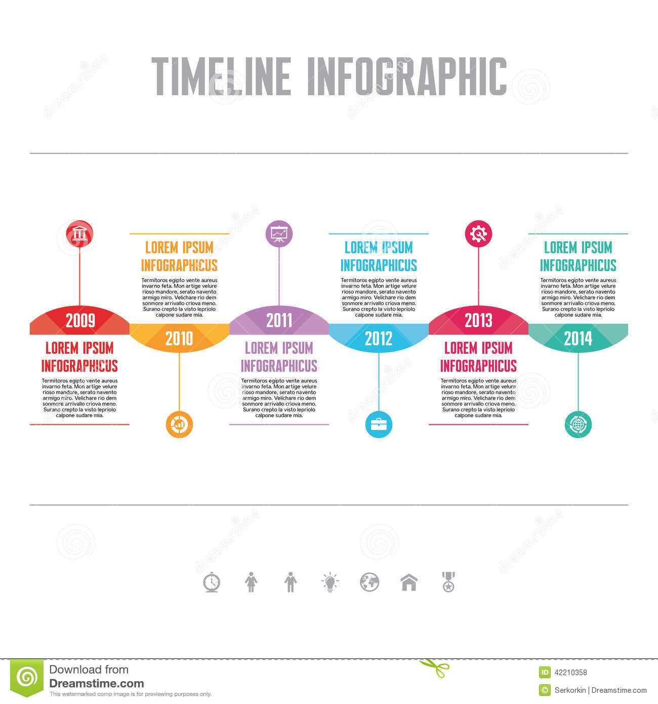 Timeline Infographic Template  Google Search  Grad Work