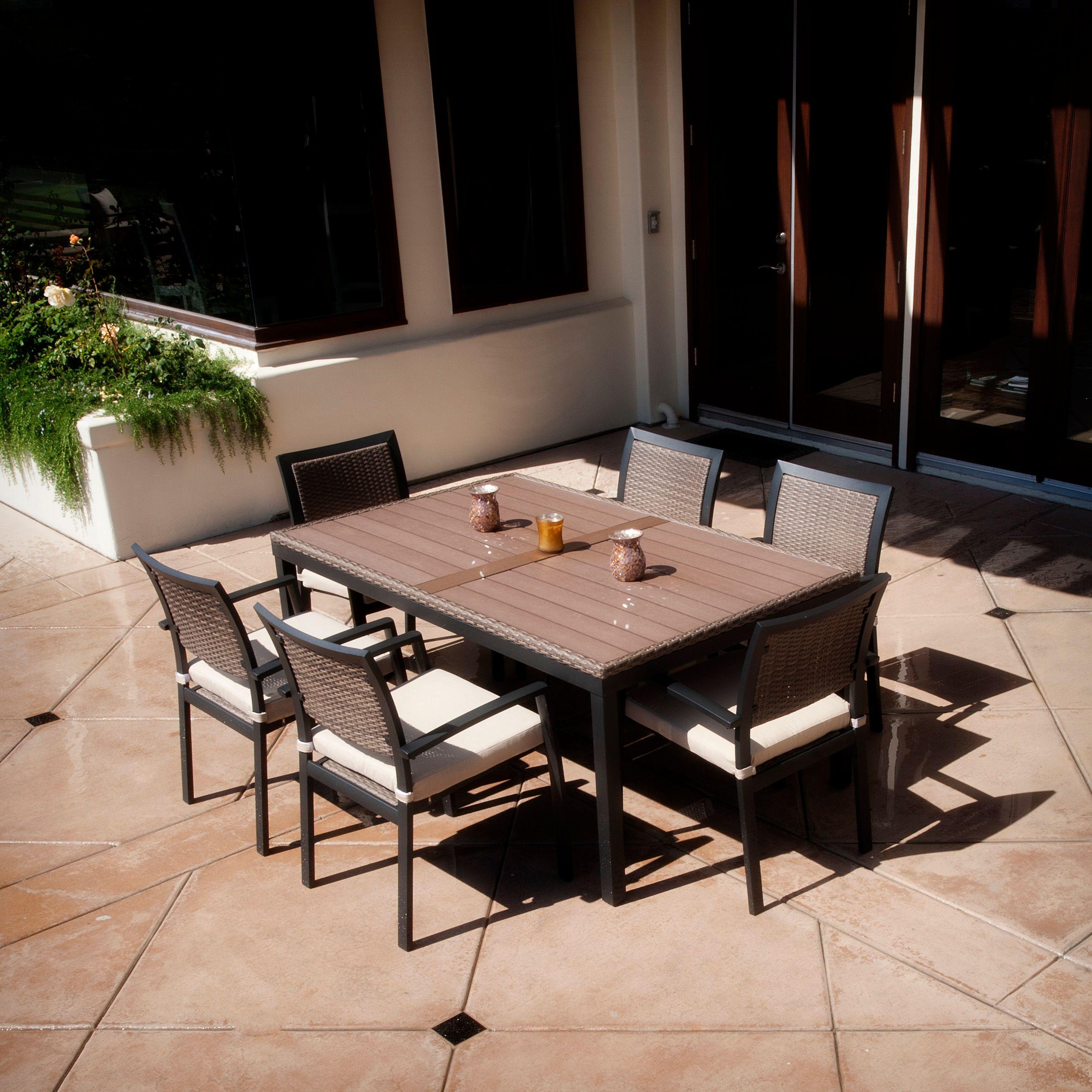 Fair Zen 7 Piece Dining Set By Rst Outdoor