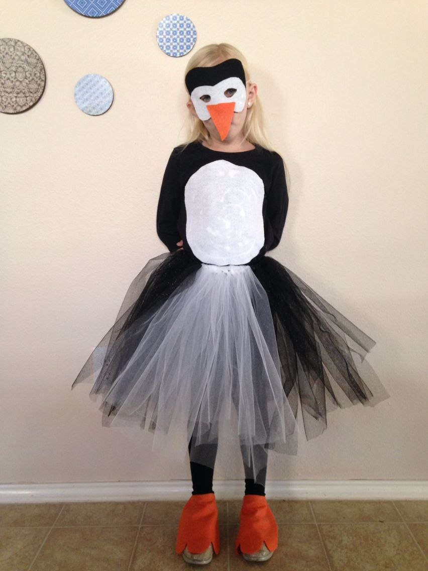 homemade penguin costume kids crafts pinterest. Black Bedroom Furniture Sets. Home Design Ideas