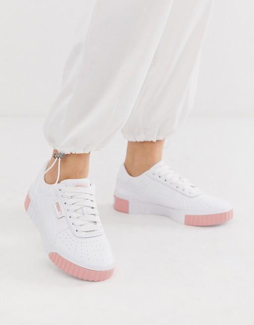 Puma Cali white and pink trainers in 2020 | Puma cali, Pink ...
