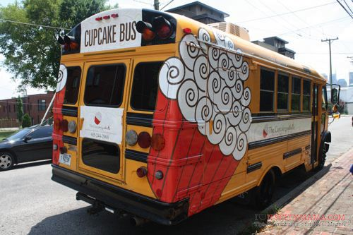 The Cupcake Collection's version of a food truck in Nashville...their brick & stone location is in Germantown, near the Farmers Market. Seriously, the BEST cupcakes I've ever had. Ah-mazing!!