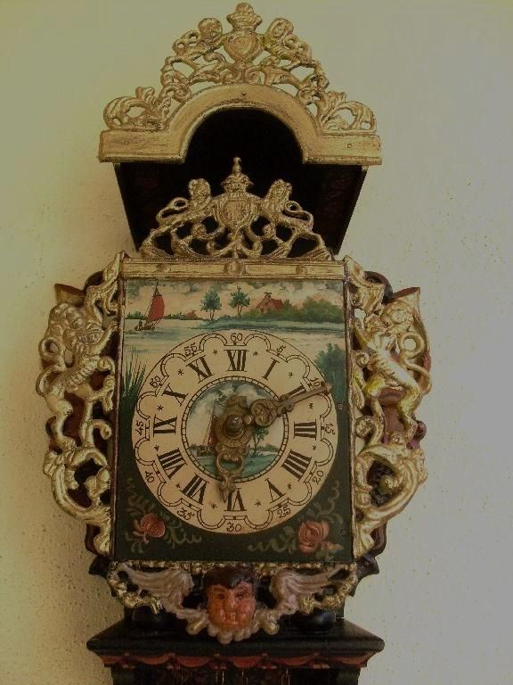 Details About Old Wall Clock Friesian Dutch Clock Vintage