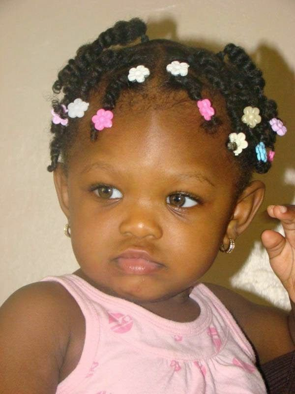 cute black babies hairstyle - check