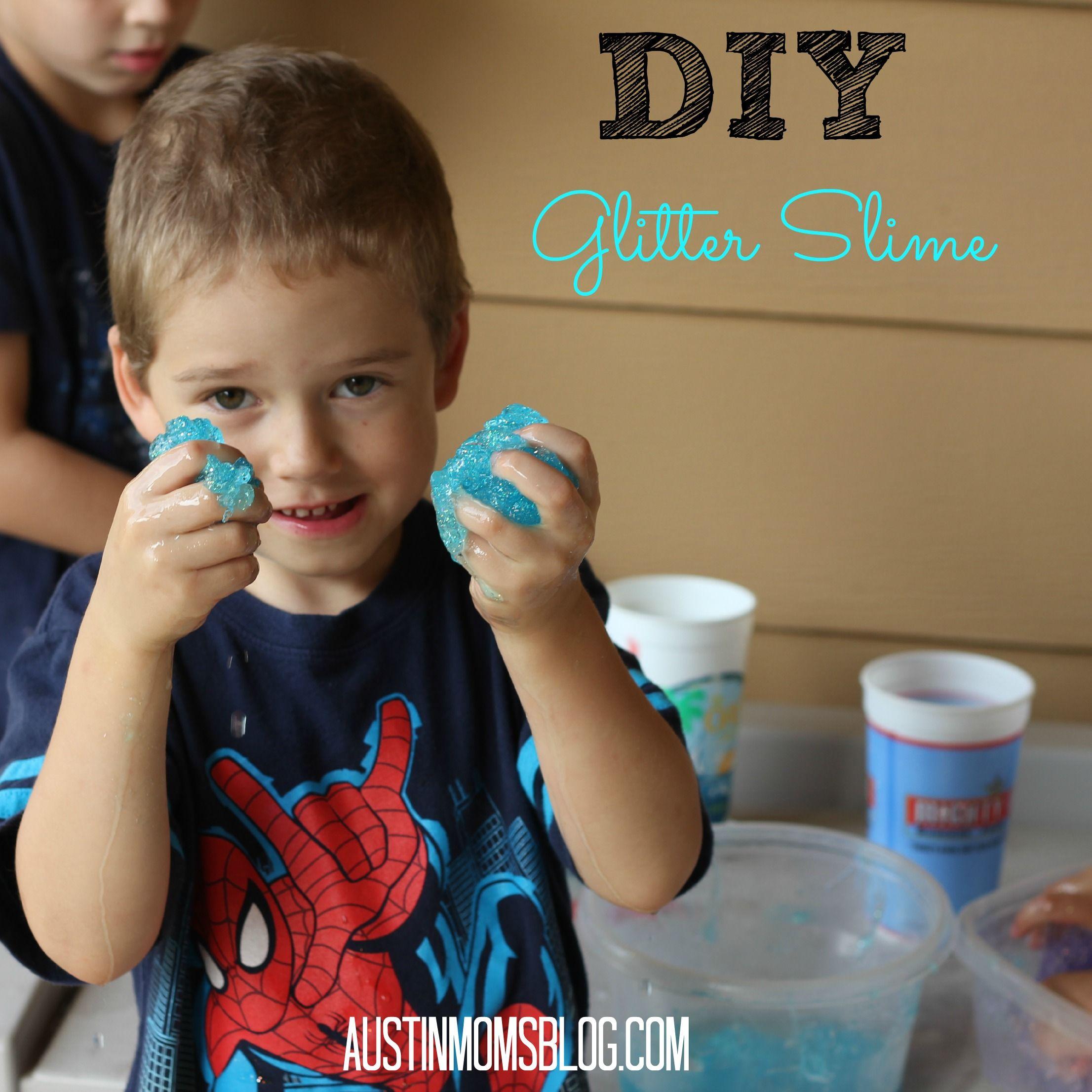 Gloomy Day Activities | Austin Moms Blog | DIY Glitter Slime