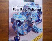Tea Bag Folding Book, Craft Book, Papercraft, Origami, Paper Folding, Embellishments, Rosette, Paper Beads, Ornaments