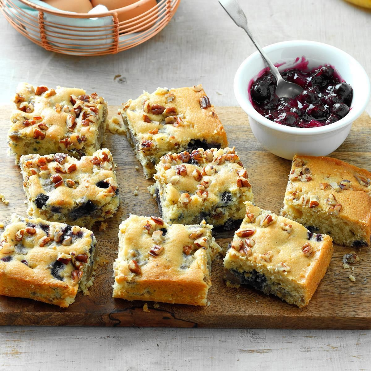 Blueberrysausage breakfast cake recipe with images