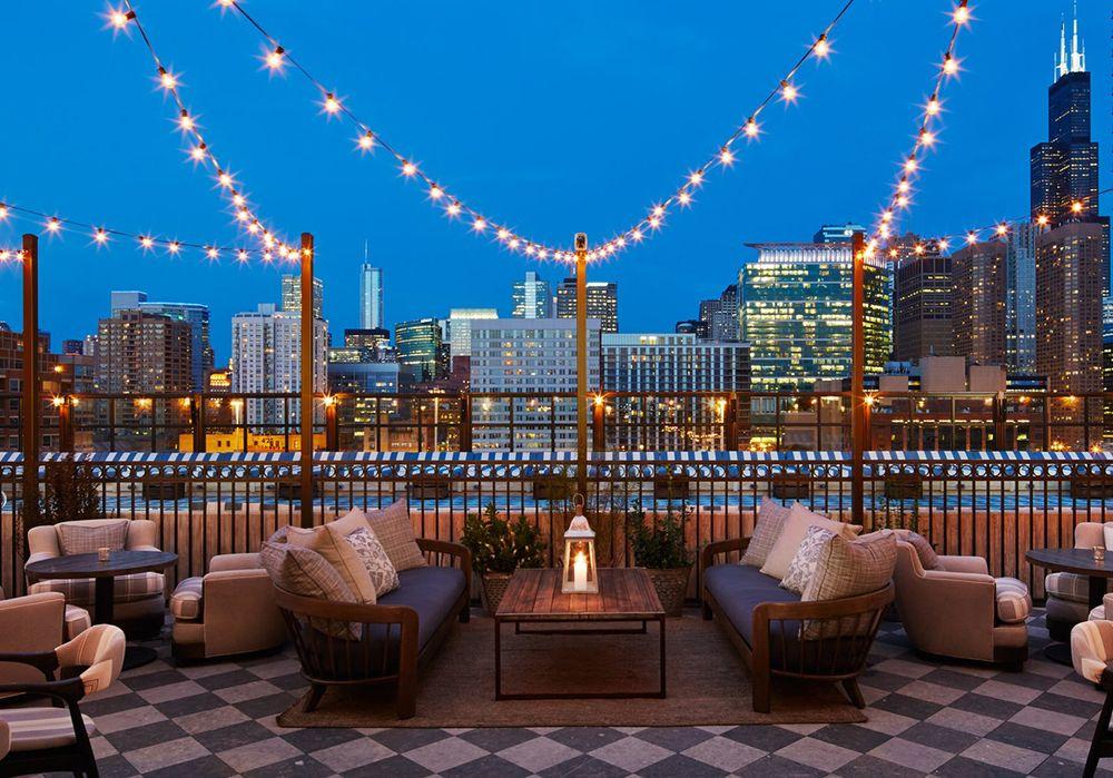 Club Privado Y Hotel Soho House En Chicago Casa Soho Bar En La Azotea Bar Terraza