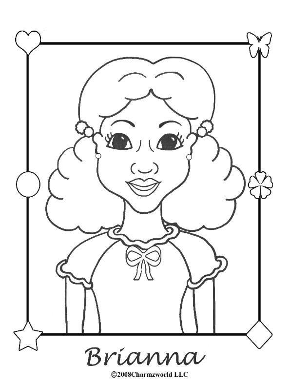 coloring pages for african american girls charmz girl brianna - African American Coloring Pages