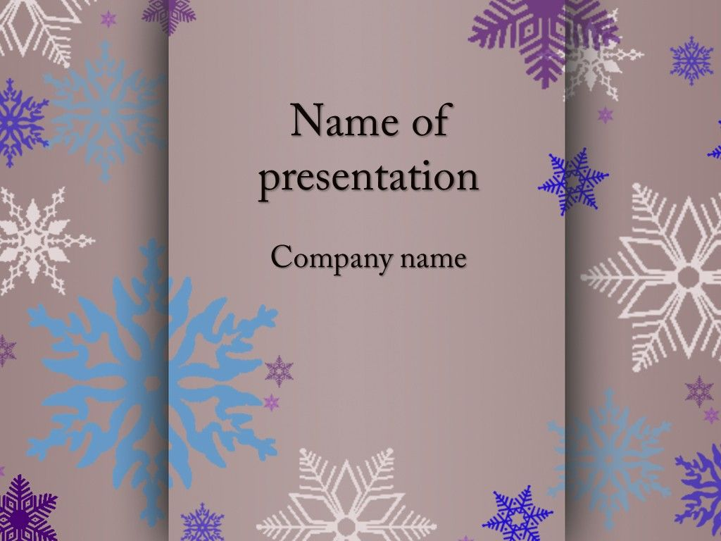 snowflakes powerpoint template | powerpoint templates | pinterest, Modern powerpoint