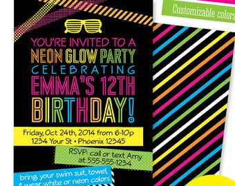 Party Glow Party Invitations Enriching Your Ideas To Create Your