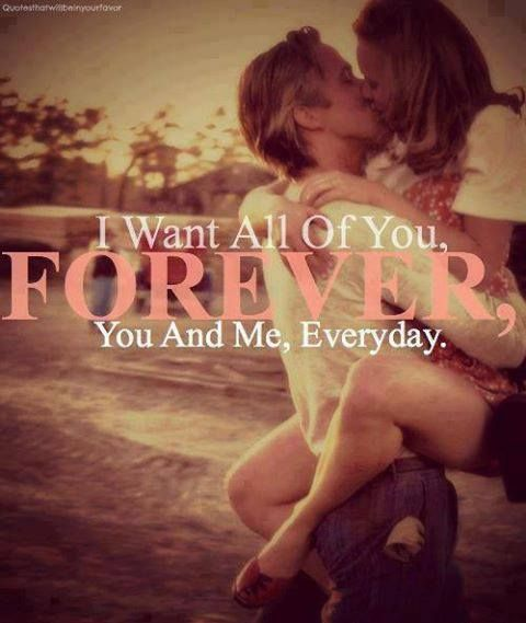 """I want all of you, forever. You and me, everyday."" #lovequotes #thenotebook"