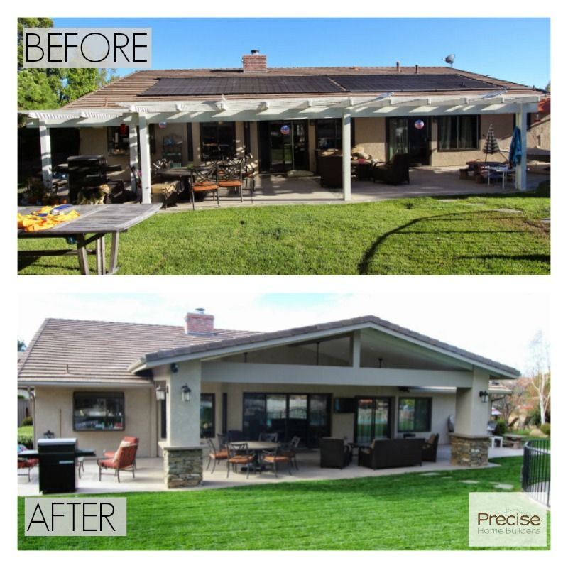 Patio Covers Woodland Hills Ca: Before And After: Patio Cover Addition In Chatsworth, CA