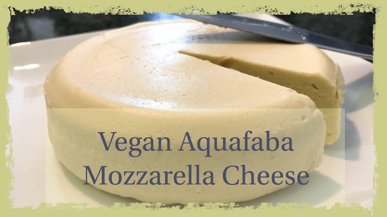 Vegan Aquafaba Mozzarella Cheese Aquafaba, Mozzarella
