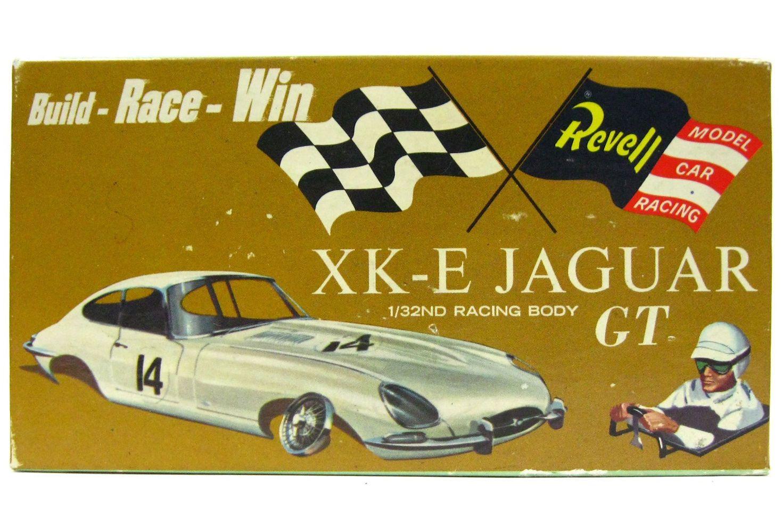 Vintage 1960's Revell XKE Jaguar GT 1/32 Slot Car Kit w