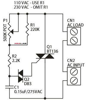 triac based lamp dimmer electronics lab elektronika ekkor 2019