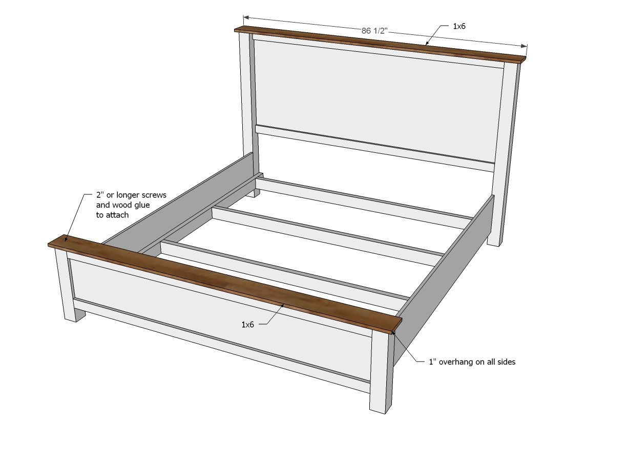 Ana White | Build a Cassidy Bed - KING | Free and Easy DIY Project ...