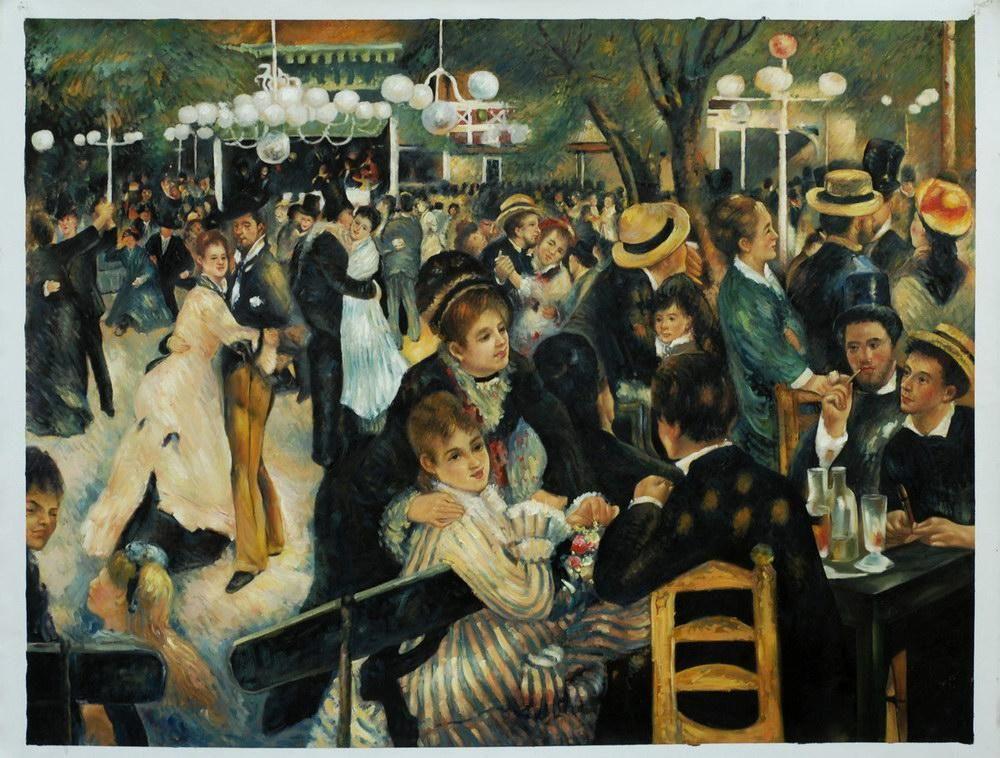 Renoir, Le Moulin de la Galette. (1876) | au café-concert ...