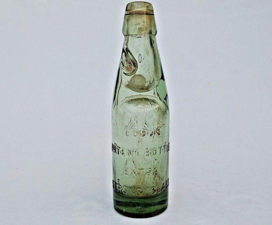 1930 S Old Patent Bottle Wazir Glass Works Codd Neck Marble Stopper Soda Bottle Katrakbombay Vintage Bottle Glass Soda Bottles