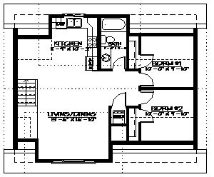 A Two Bedroom Carriage Home With Interior Stair Entrance Stacking Washer Dryer Hookups And Large Double Garage Carriage House Plans House Plans Harmony House