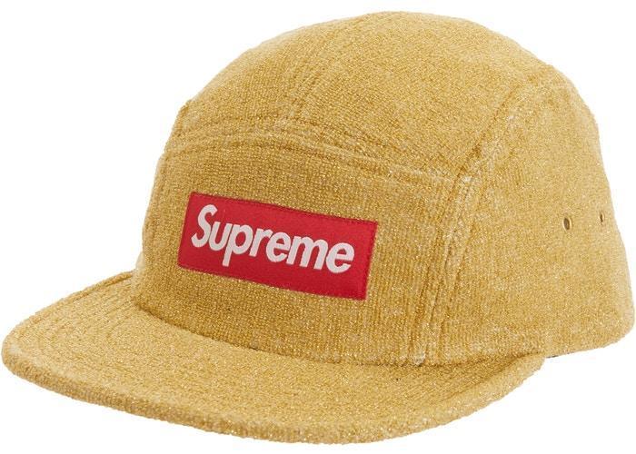 Supreme SS19 Glitter Terry Camp Cap hat tee box sweatshirt logo hooded