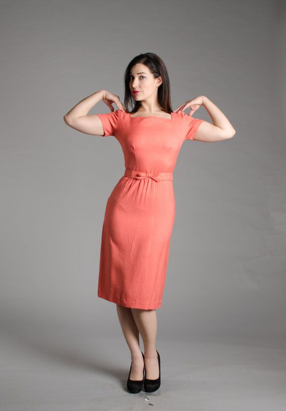 956eb3e1893 Vintage 50s Dress - 1950s Pencil Dress - Roslyn Heights Dress ...