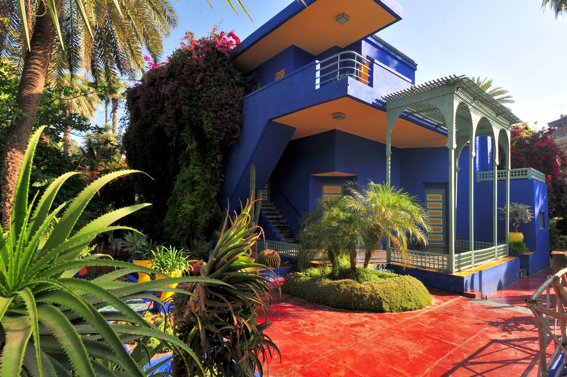 les jardins majorelle meilleurs places visitez au maroc mon jardin pinterest marrakech. Black Bedroom Furniture Sets. Home Design Ideas