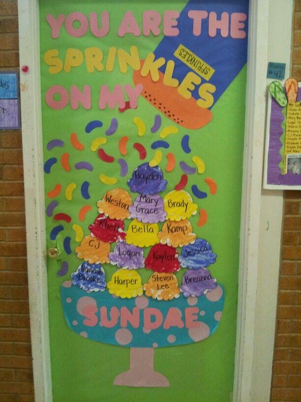 Summer Ice Cream Door Decoration Teacher Door Decorations