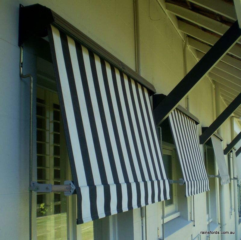 planters front awning side for fabric stripe windows coupled striped this black the white blue and patio entrance with