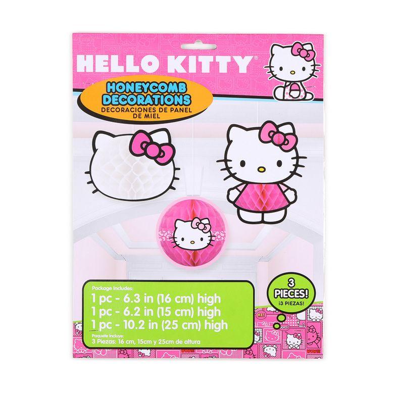 Hello Kitty Honeycomb Decorations 3 Count Hello Kitty Birthday