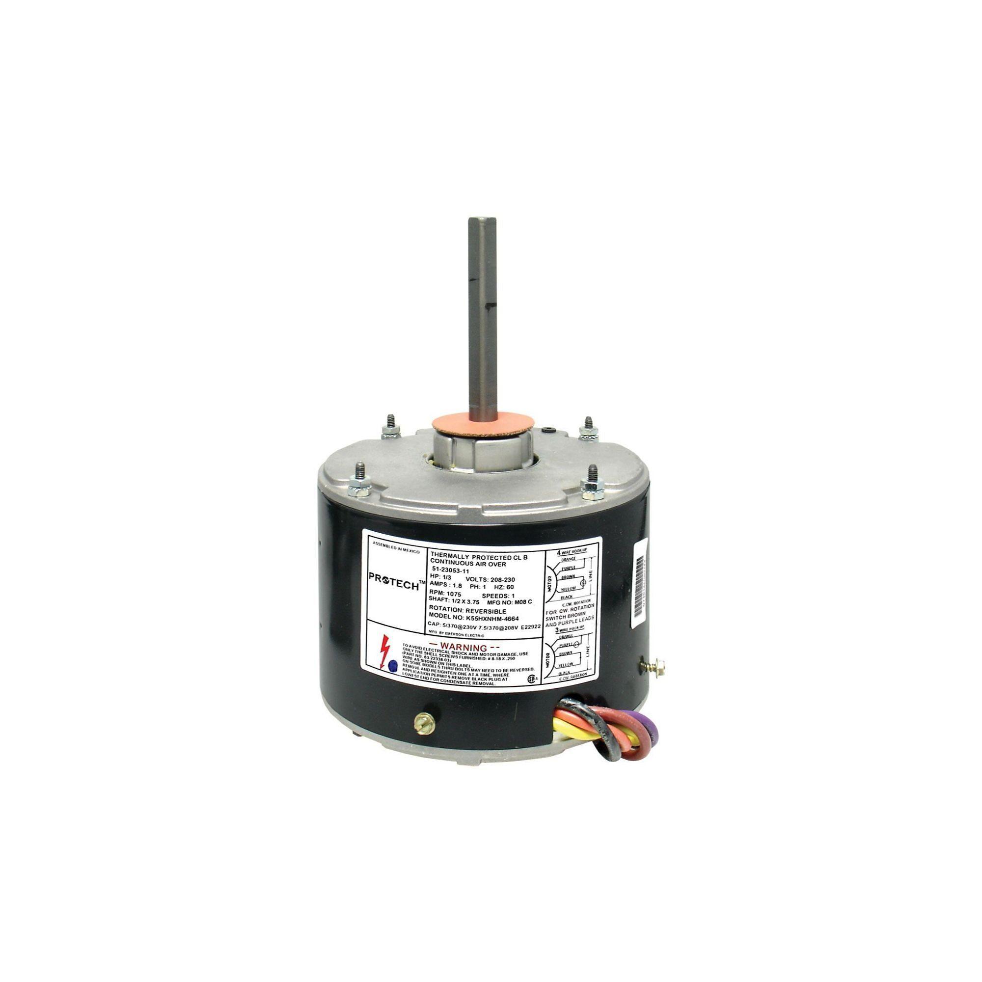 Rheem Parts 51 23053 11 Condenser Motor 1 3 Hp 208 230 1 60 1075 Rpm 1 Speed In 2020 Motor Condensation Speed
