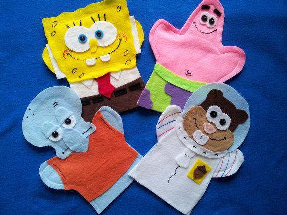 #Spongebob felt hand puppet. Hey, I found this really awesome listing at http://lisapuppetmaker.com