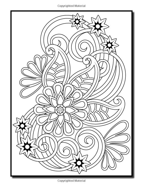 Relaxation Flower Coloring Pages For Adults Designs Collections