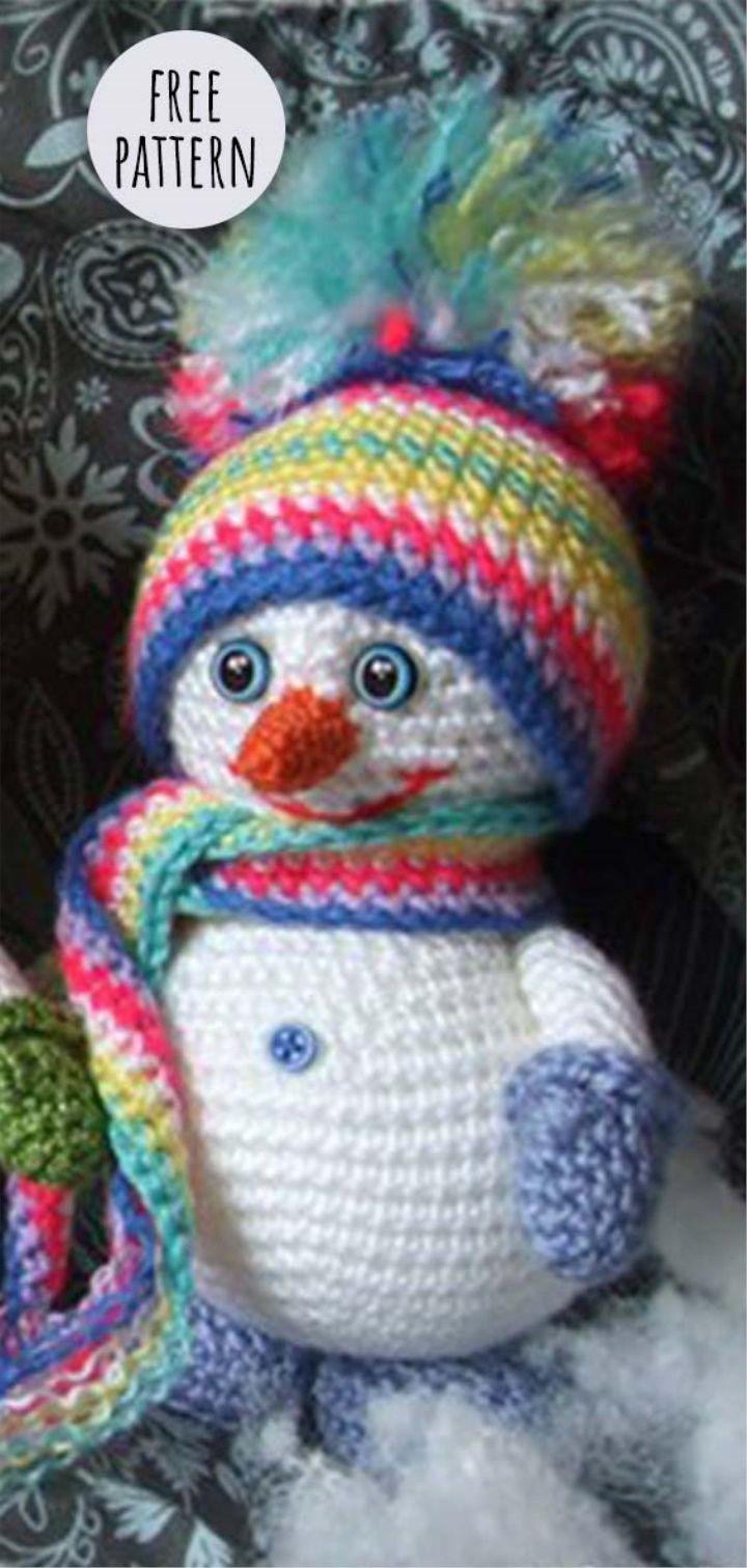Amigurumi Snowman Free Pattern | Amigurumi en 2018 | Pinterest ...