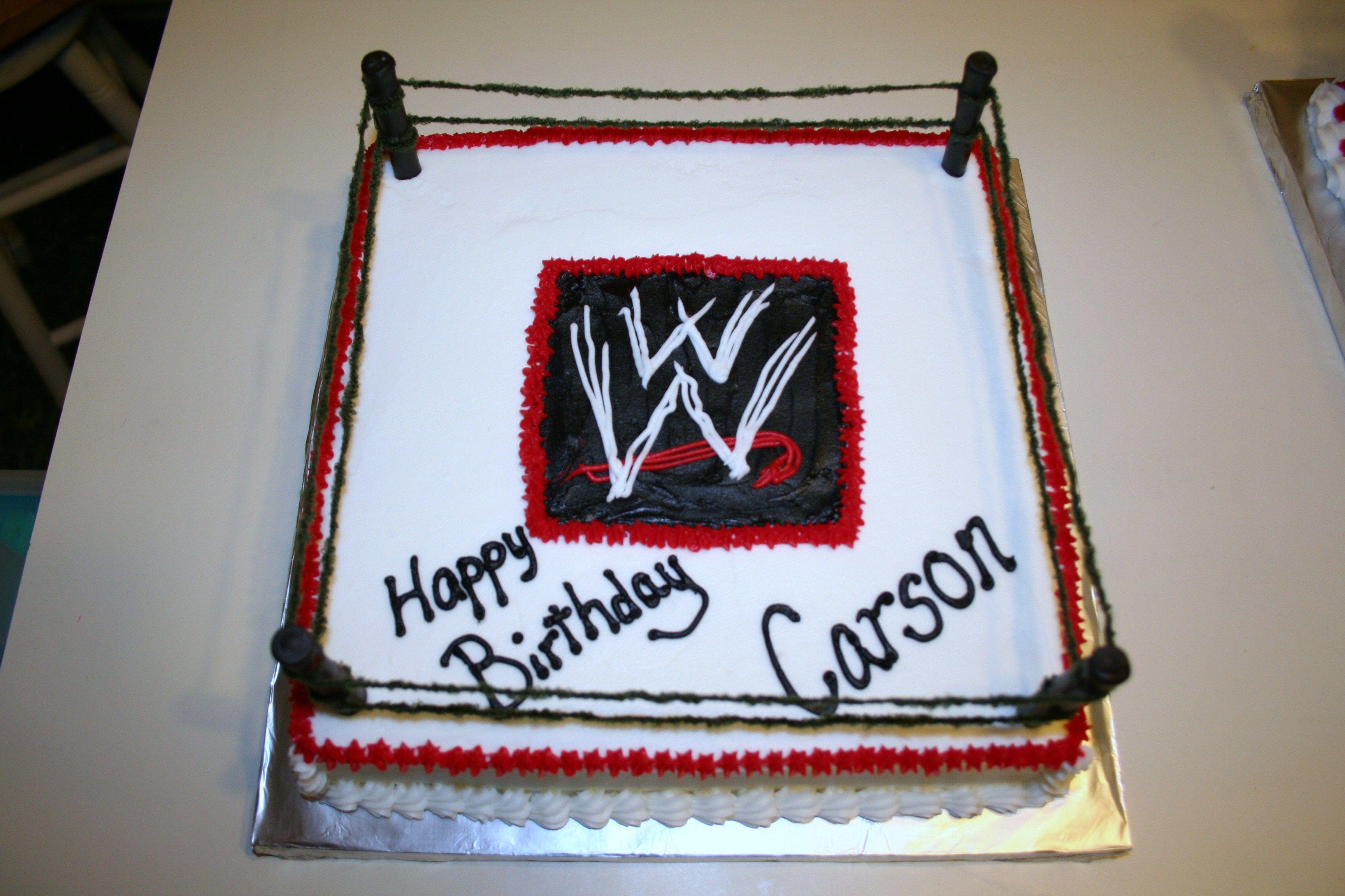 Wwe Single Layer Cake My Cakes Wwe Cake Wrestling