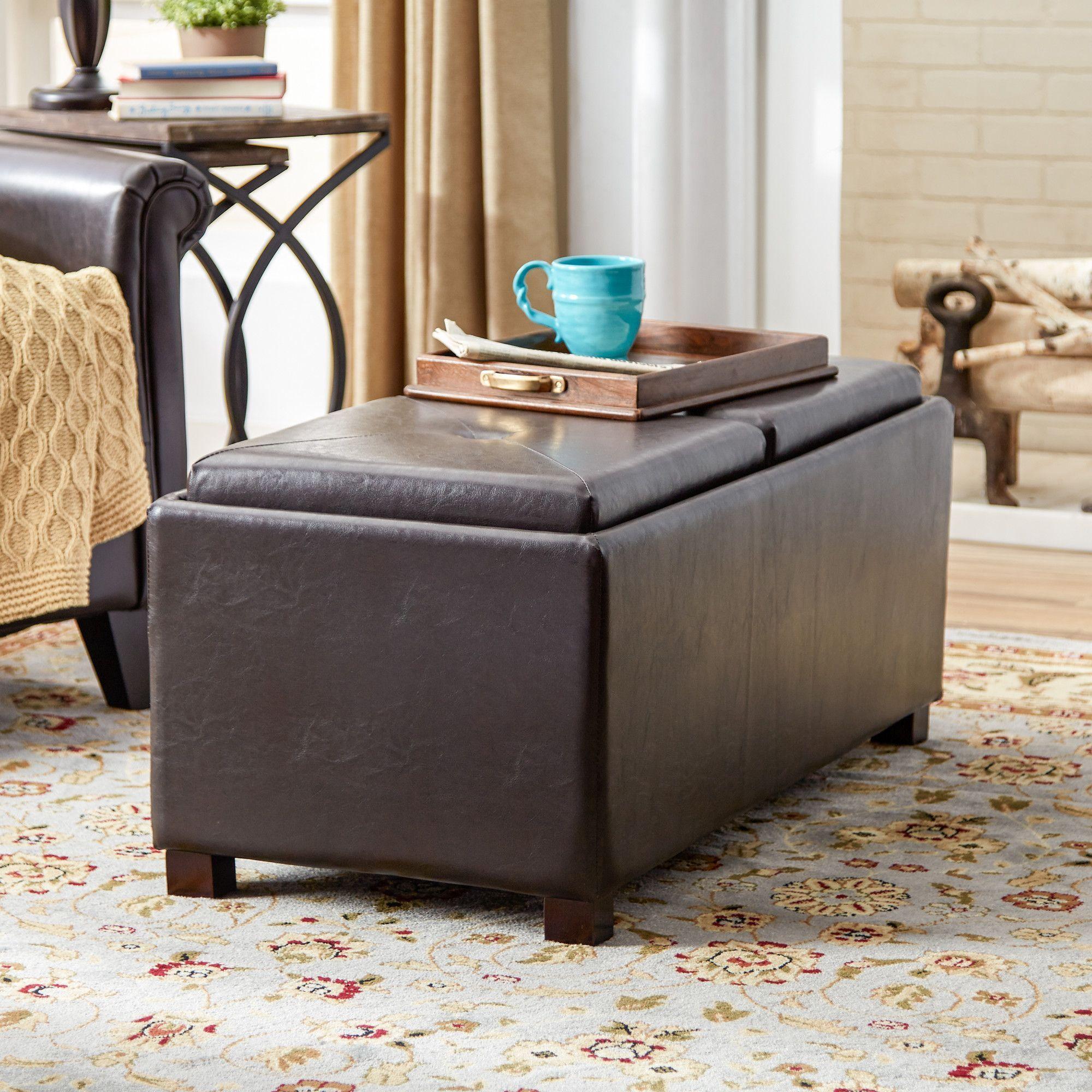 Terrific Clarke Double Tray Storage Ottoman Furniture Ottoman Ibusinesslaw Wood Chair Design Ideas Ibusinesslaworg