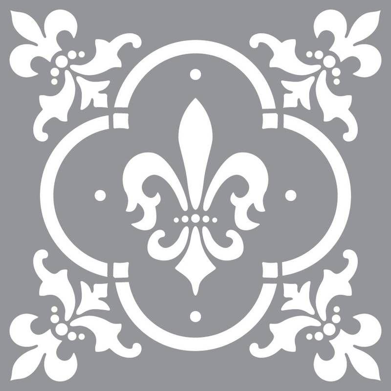 Americana Décor Fleur De Lis Stencil 30 X Cm